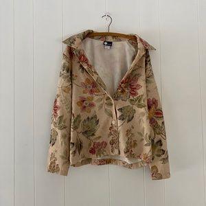 90s Floral Jean Jacket Vintage
